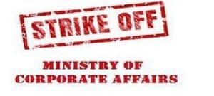 Strike off Notice